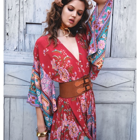 Spell & The Gypsy Collective Dresses & Skirts - Spell lotus kimono gown ruby xs